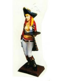 sexy Piratenbraut klein mit Tablett