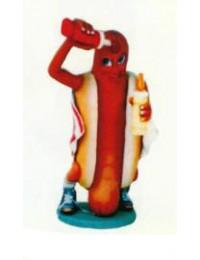 kleines Hotdog mit Senf und Ketschup