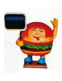 Hamburger mit Schild