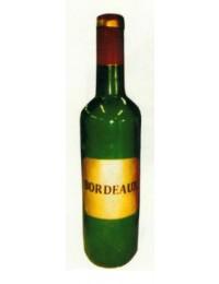 grüne große Flasche Bordeaux Wein