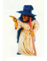stehende Hexe mit Stock klein