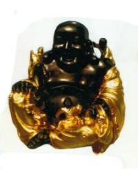 dicker Buddha gold braun