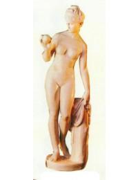 Frauenfigur Eva mit Apfel in der Hand