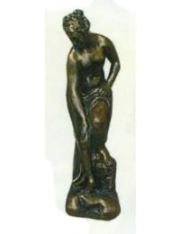 hübsche Frauenfigur Bronzeoptik
