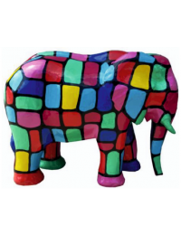 Elefant bunt gefleckt