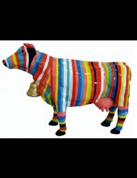 Kuh bunt gestreift