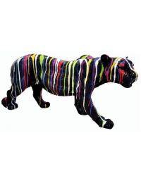 Panther schwarz  mit Farbverlauf
