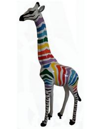 Giraffe bunte Streifen
