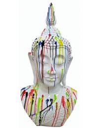 Buddhabüste weiß mit Farbverlauf