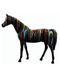 Pferd schwarz mit Farbverlauf