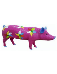 Schwein pink Flower