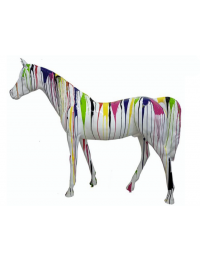Pferd weiß mit Farbverlauf