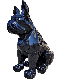 Schwarze Bulldogge Sitzend  XXL