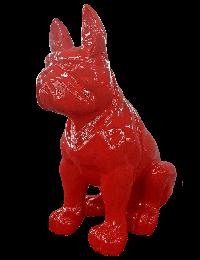 Rote Bulldogge Sitzend  XXL