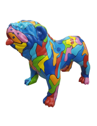 Bunt gefleckte Bulldogge