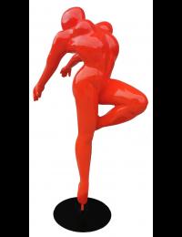 Erotische Tänzerin Rot auf Sockel