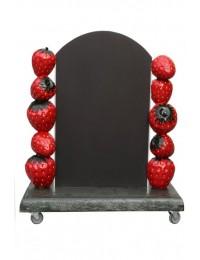 Erdbeer-Angebotstafel
