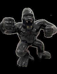 XXL Gorilla wütend schwarz mit Goldenen Zähnen