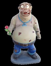 Dicker Zombie mit Rose