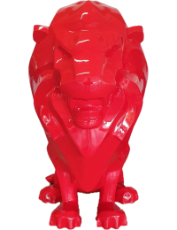 Sitzender Moderner roter Löwe