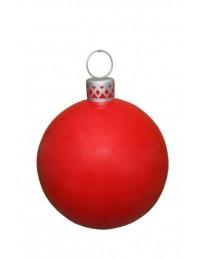 Matt rote Weihnachtskugel in XXL