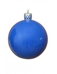 Blau glänzende Weihnachtskugel