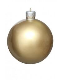 Matt goldene Weihnachtskugel