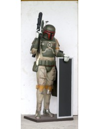 Space Soldier mit Angebotstafel