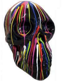 Totenkopf mit bunten Farbverlauf