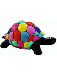 Schildkröte mit bunten Quadraten