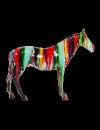 Bunt bemaltes Pferd Araber