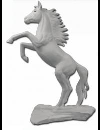 Aufsteigendes Pferd weiß