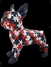 Pitbull Kampfhund in Puzzleoptik