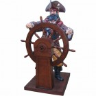 Pirat groß mit Steuerruder