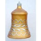 kleine Weihnachtskugel in Glockenform Gold