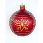 kleine Weihnachtskugel Rot-Gold