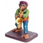 Affe am Saxophon