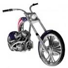 Amerikanisches Custom-Bike für Wandmontage