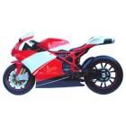 rotes Rennmotorrad für Wandmontage