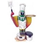 Papagei spielt Koch