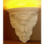 Parterre mit Engel und Lampe