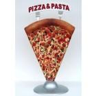 Pizzastück als Werbeaufsteller