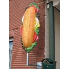 Sandwich mit Wandbefestigung