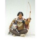 Indianer Krieger mit Wolf