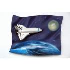 Spaceshuttle im Weltraum als Wanddekor