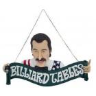 Billiardtisch-Schild