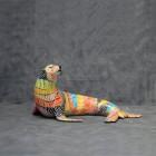 lebensgroßer Seelöwe in künstlerischer Bemalung