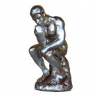 Der Denker in Silber metallic