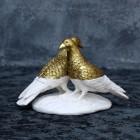 gold - weißes Taubenpärchen