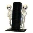 Aliens mit CD-Ständer